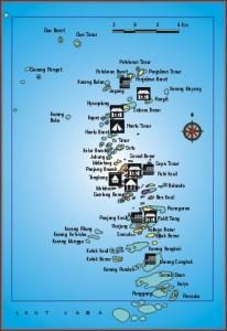 Peta Kepulauan Seribu
