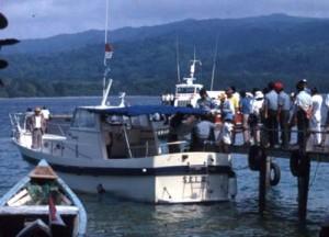 Dermaga di Pulau Peucang