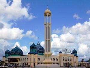 Megahnya Masjid Al Karomah Martapura