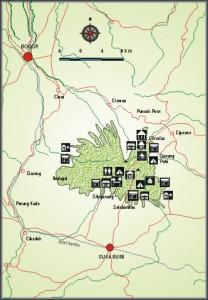 Peta Gede Panfrango